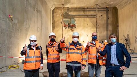Durchschlag Tunnel Feuerbach