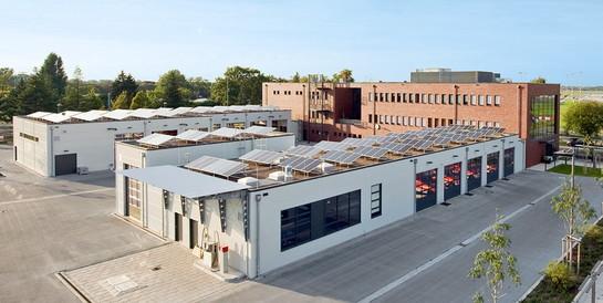 Feuerwache Stadt Düsseldorf: Schlüsselfertiger Neubau mit Fahrzeughalle, Werkstatt, Waschhalle und Tankstelle