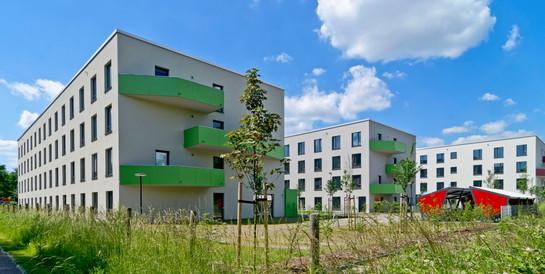 Studenten-Appartementanlage Green Dorms, Potsdam: Schlüsselfertiger Neubau von 390 Studentenwohnungen